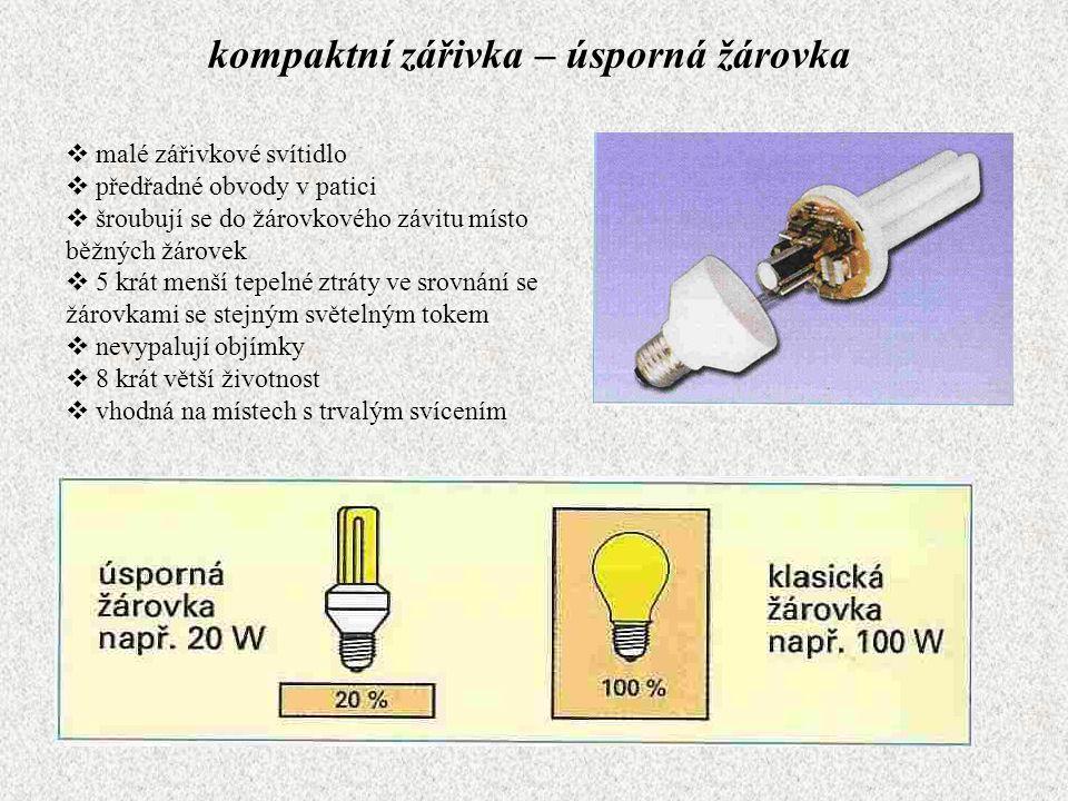 kompaktní zářivka – úsporná žárovka