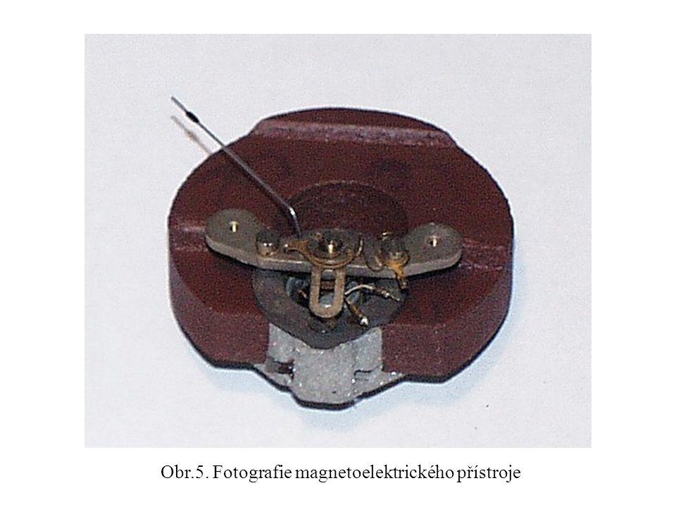 Obr.5. Fotografie magnetoelektrického přístroje