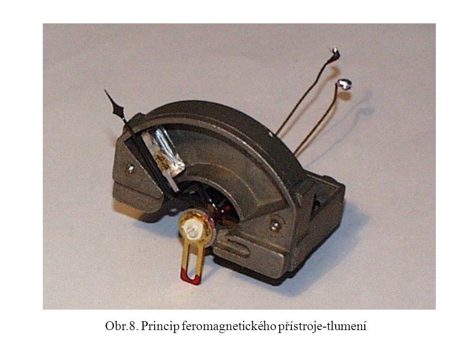 Obr.8. Princip feromagnetického přístroje-tlumení