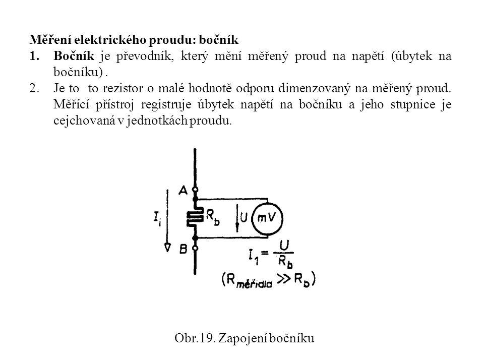 Měření elektrického proudu: bočník