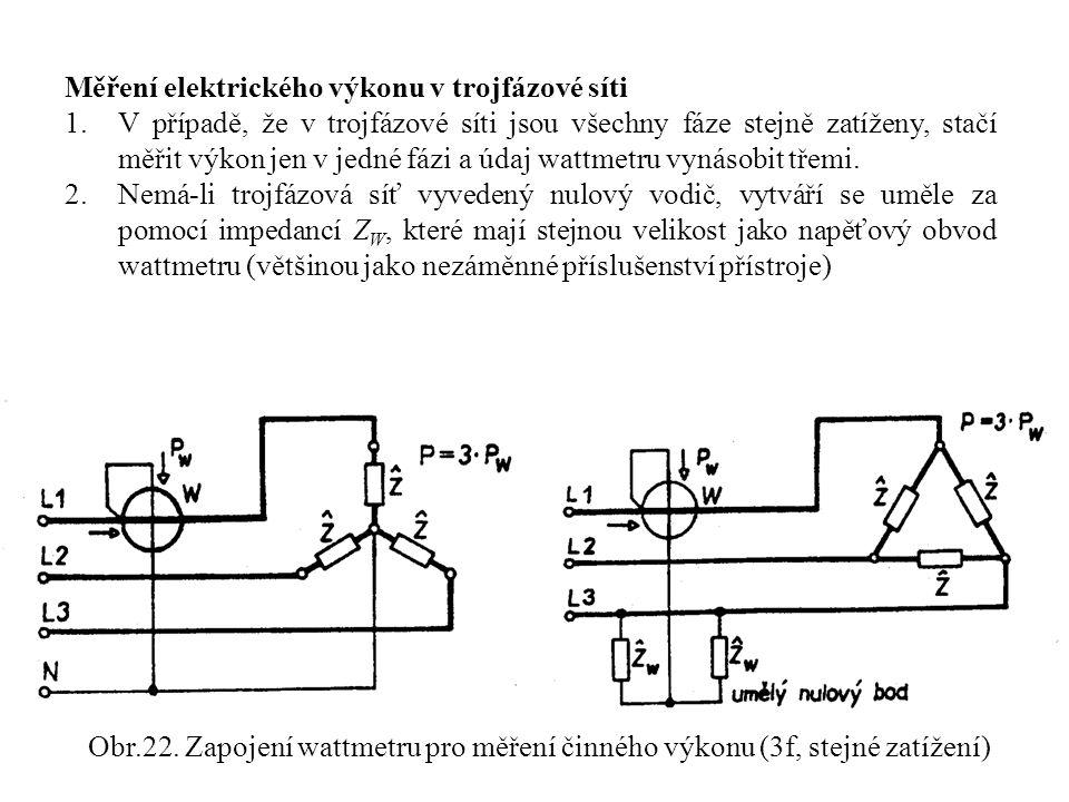 Měření elektrického výkonu v trojfázové síti