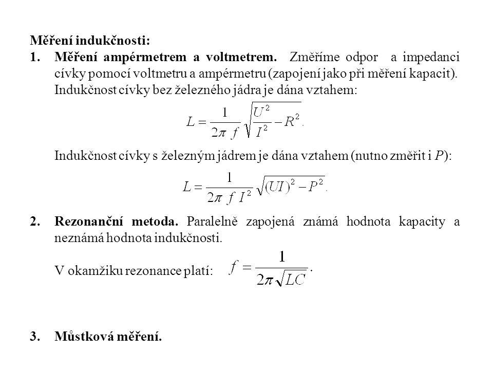 Měření indukčnosti: