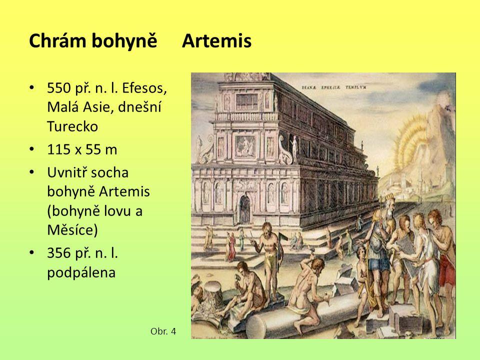 Chrám bohyně Artemis 550 př. n. l. Efesos, Malá Asie, dnešní Turecko