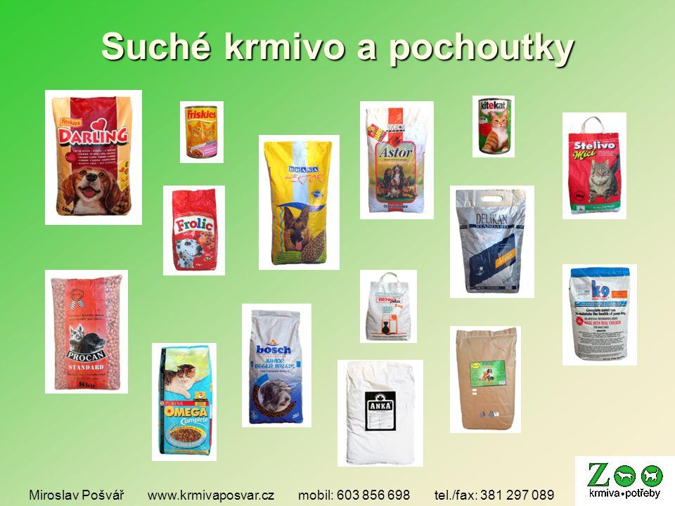 Suché krmivo a pochoutky