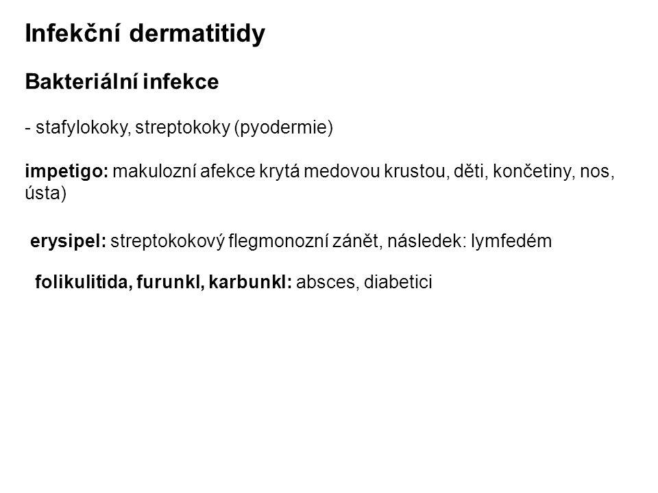 Infekční dermatitidy Bakteriální infekce