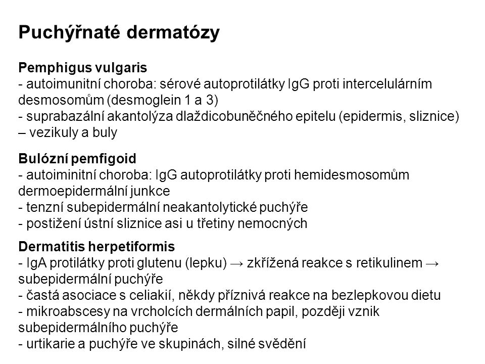 Puchýřnaté dermatózy Pemphigus vulgaris