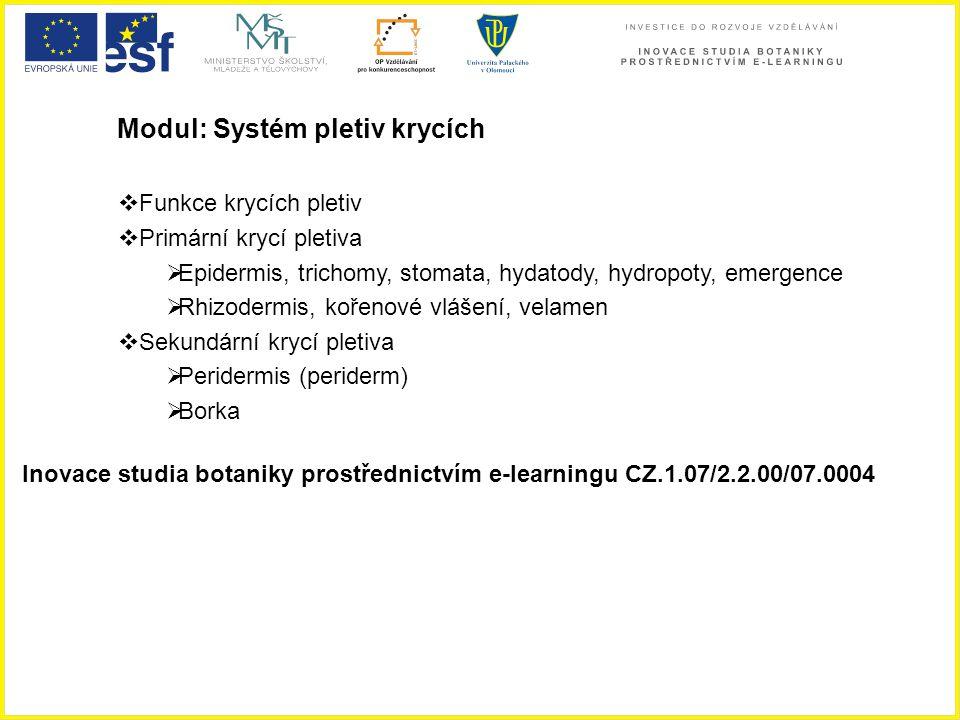 Modul: Systém pletiv krycích