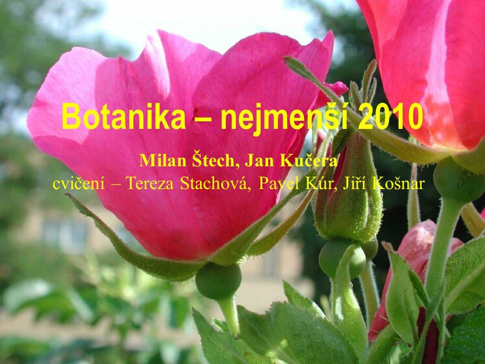 Botanika – nejmenší 2010 Milan Štech, Jan Kučera cvičení – Tereza Stachová, Pavel Kúr, Jiří Košnar