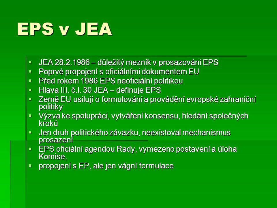 EPS v JEA JEA 28.2.1986 – důležitý mezník v prosazování EPS