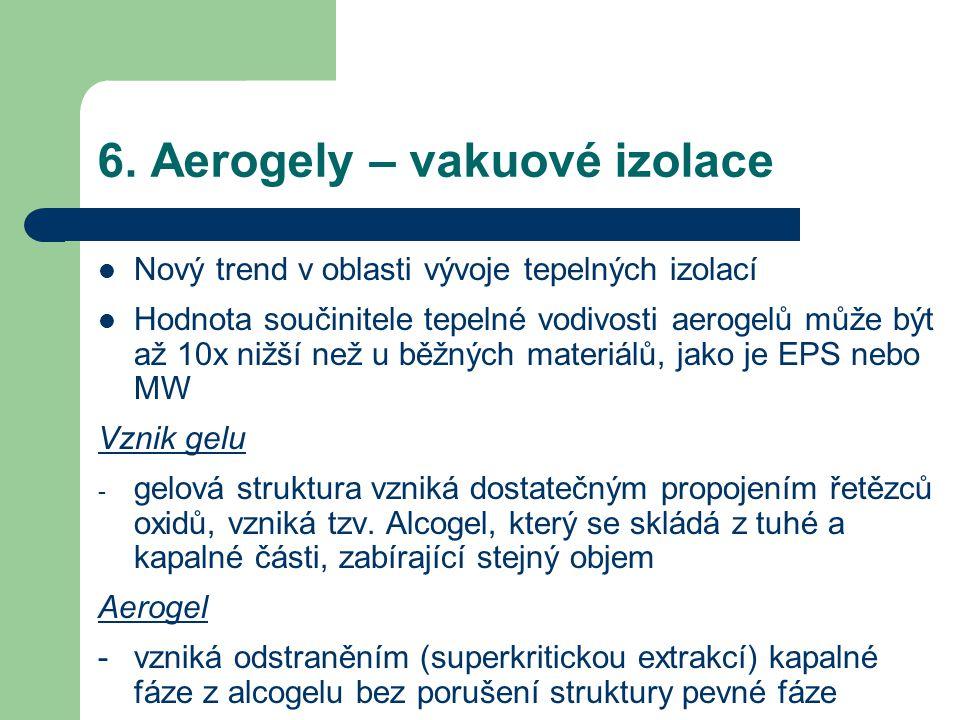 6. Aerogely – vakuové izolace