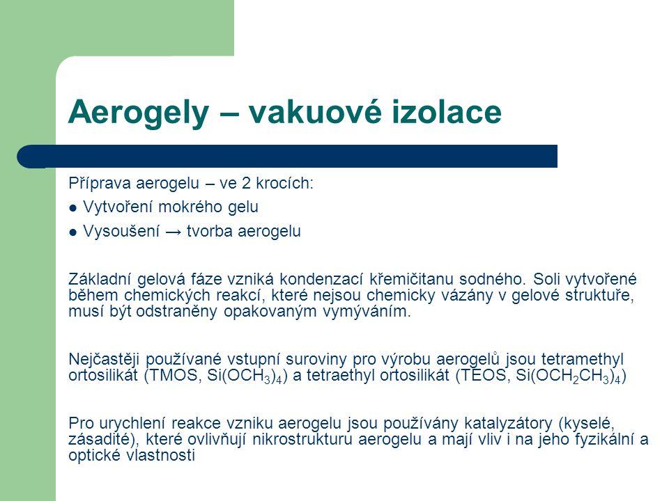Aerogely – vakuové izolace