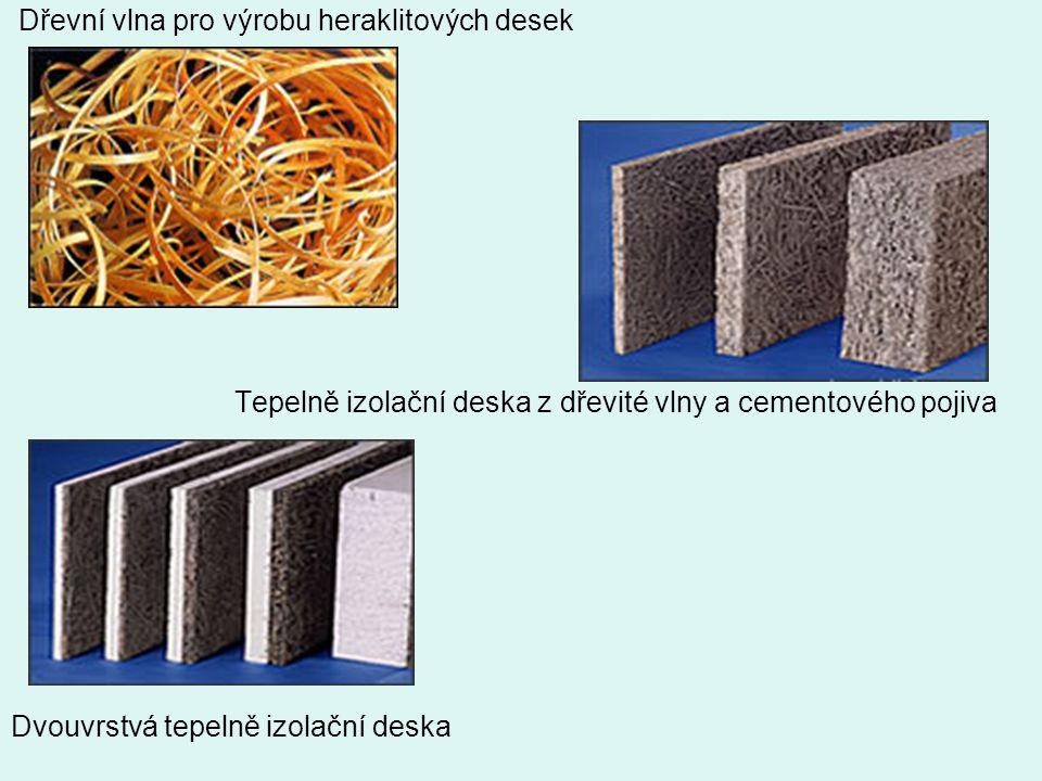 Dřevní vlna pro výrobu heraklitových desek