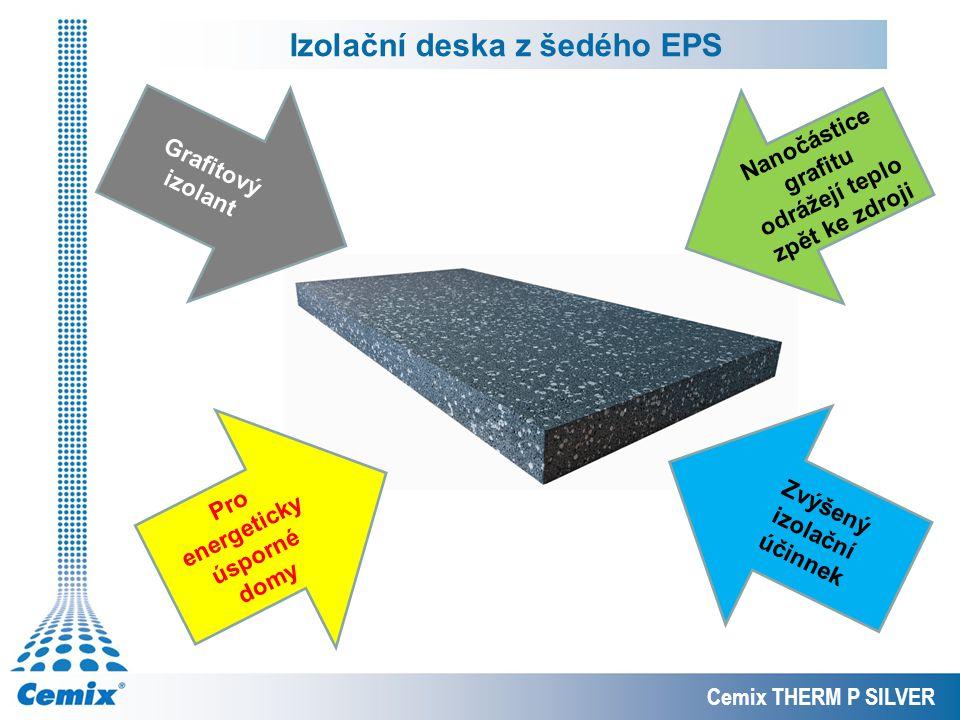 Izolační deska z šedého EPS