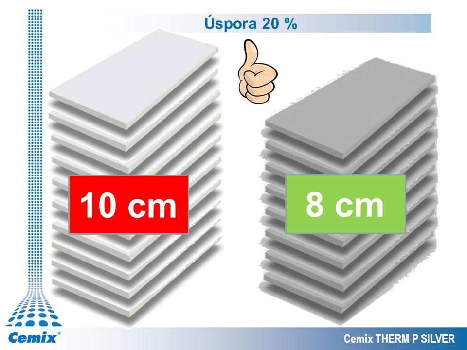 Úspora 20 % 10 cm 8 cm Cemix THERM P SILVER