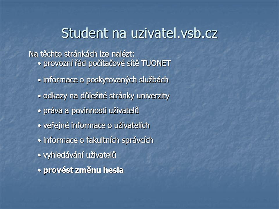 Student na uzivatel.vsb.cz