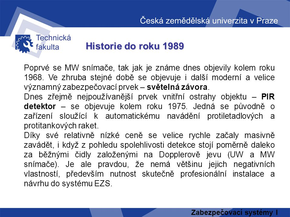 Historie do roku 1989