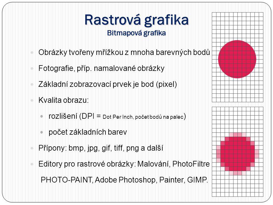 Rastrová grafika Bitmapová grafika