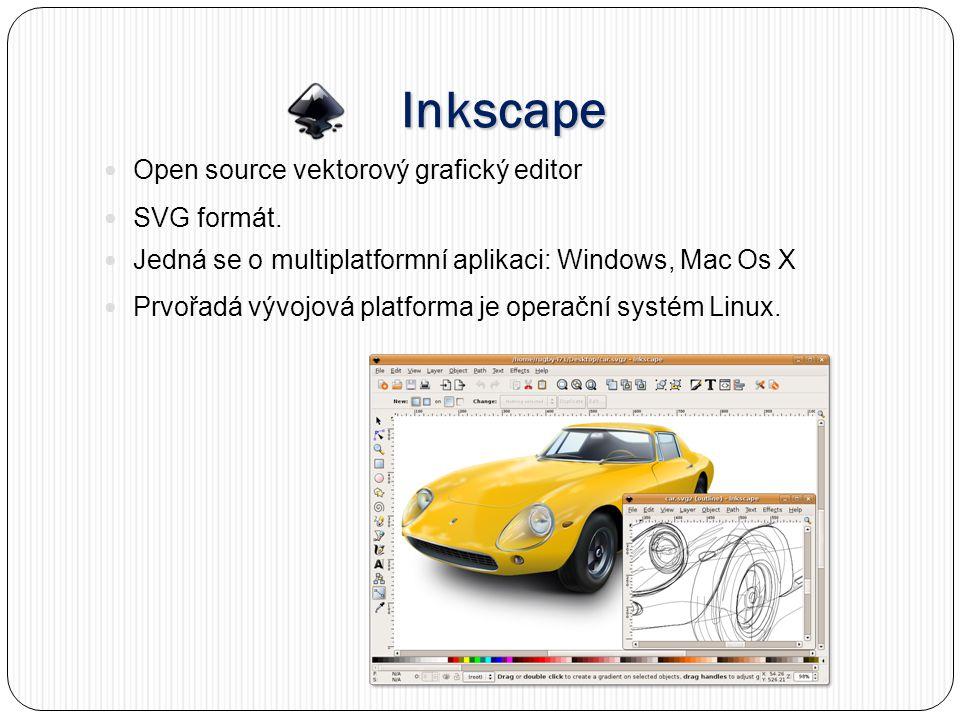 Inkscape Open source vektorový grafický editor SVG formát.