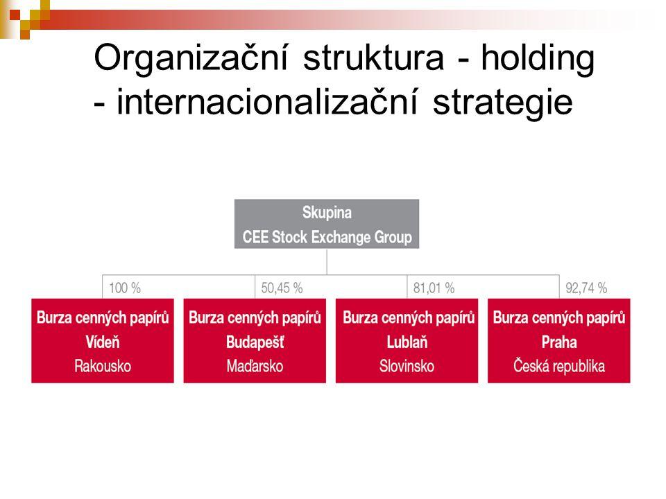 Organizační struktura - holding - internacionalizační strategie