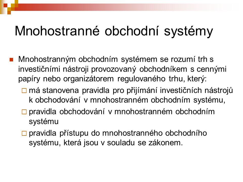 Mnohostranné obchodní systémy