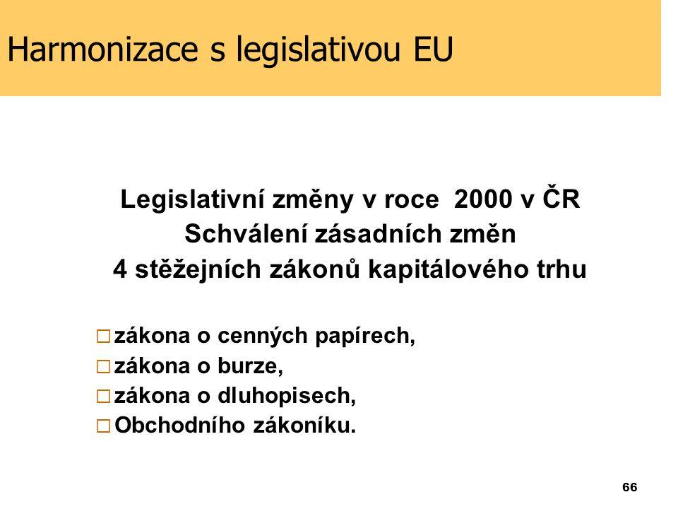 Harmonizace s legislativou EU