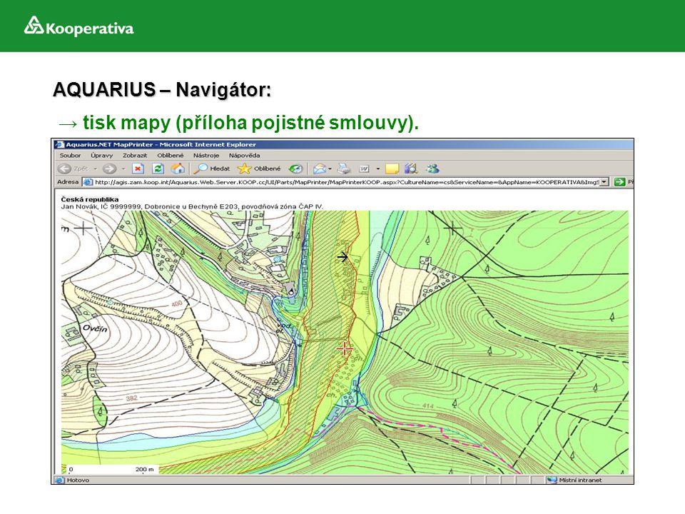 → tisk mapy (příloha pojistné smlouvy).