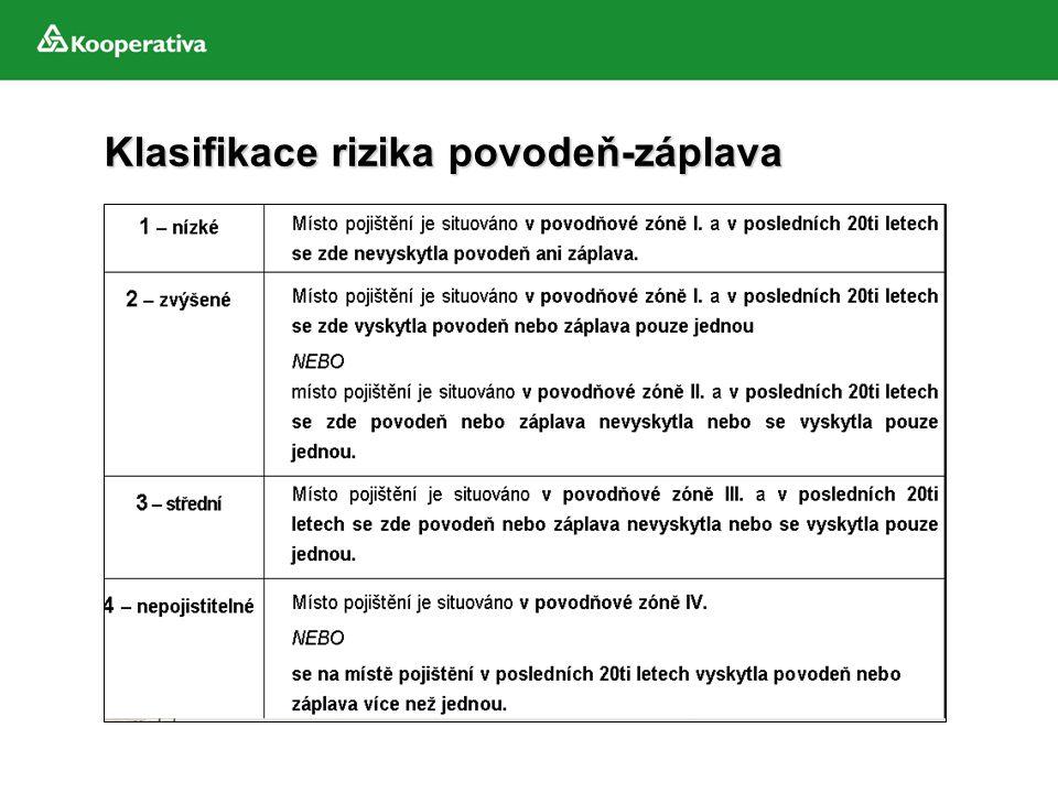 Klasifikace rizika povodeň-záplava