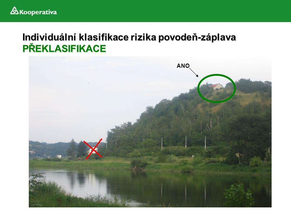 Individuální klasifikace rizika povodeň-záplava PŘEKLASIFIKACE
