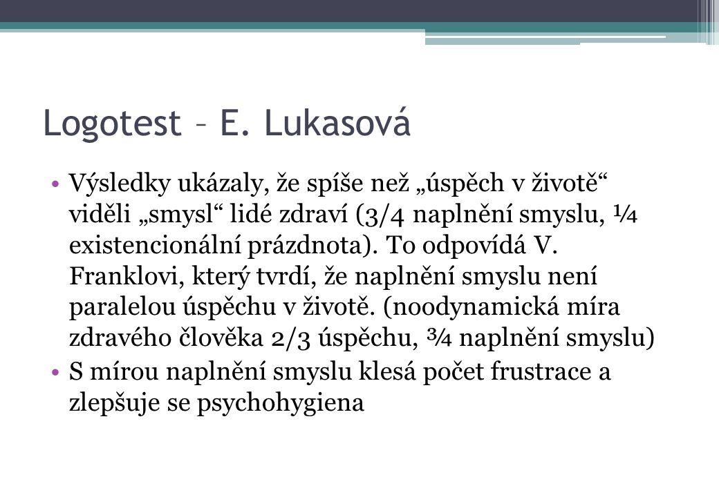 Logotest – E. Lukasová