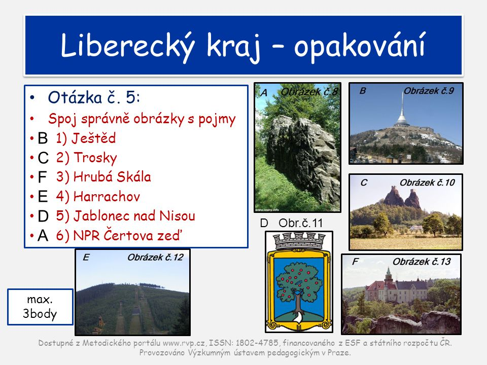 Liberecký kraj – opakování