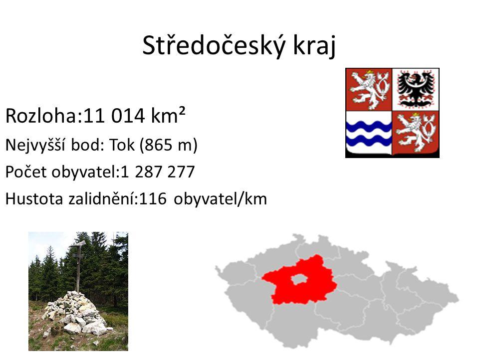 Středočeský kraj Rozloha:11 014 km² Nejvyšší bod: Tok (865 m)