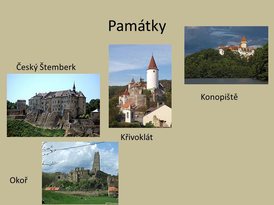 Památky Český Štemberk Konopiště Křivoklát Okoř