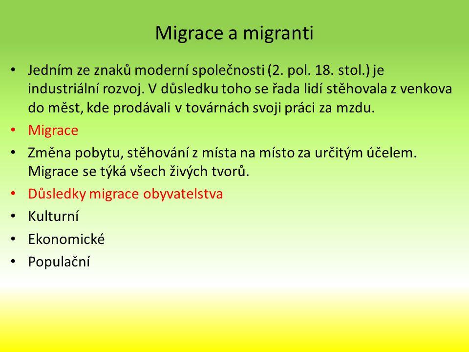 Migrace a migranti