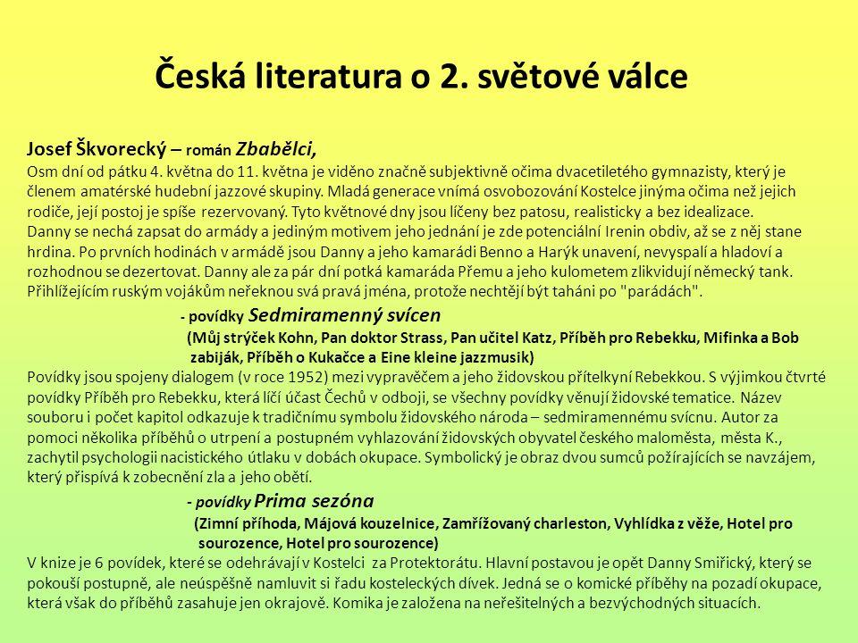 Česká literatura o 2. světové válce