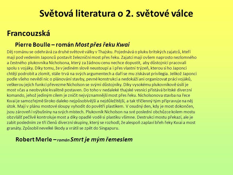 Světová literatura o 2. světové válce