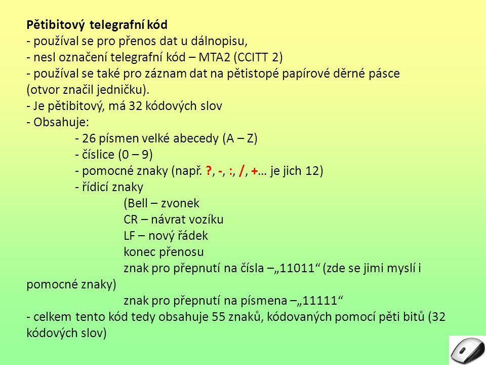 Pětibitový telegrafní kód