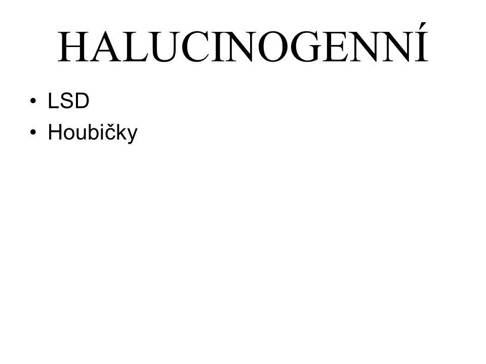 HALUCINOGENNÍ LSD Houbičky