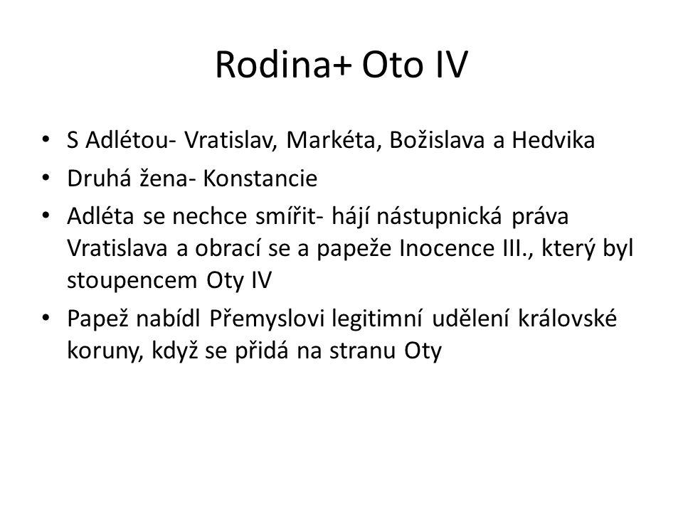 Rodina+ Oto IV S Adlétou- Vratislav, Markéta, Božislava a Hedvika