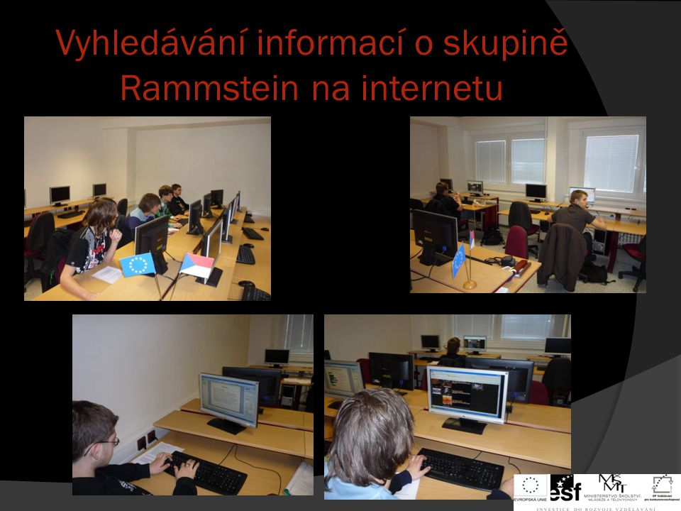 Vyhledávání informací o skupině Rammstein na internetu