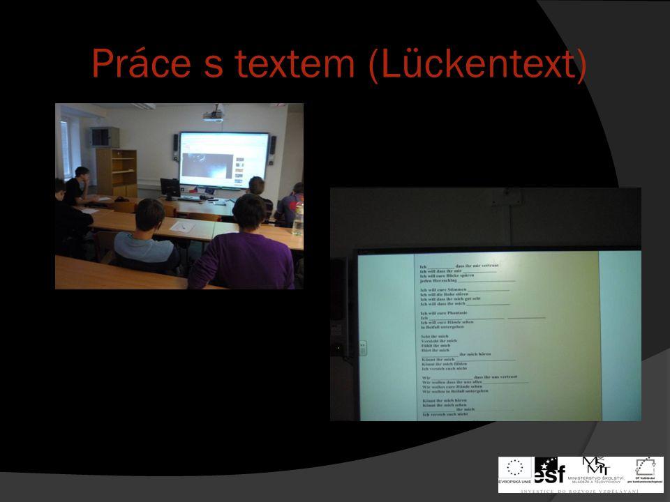 Práce s textem (Lückentext)