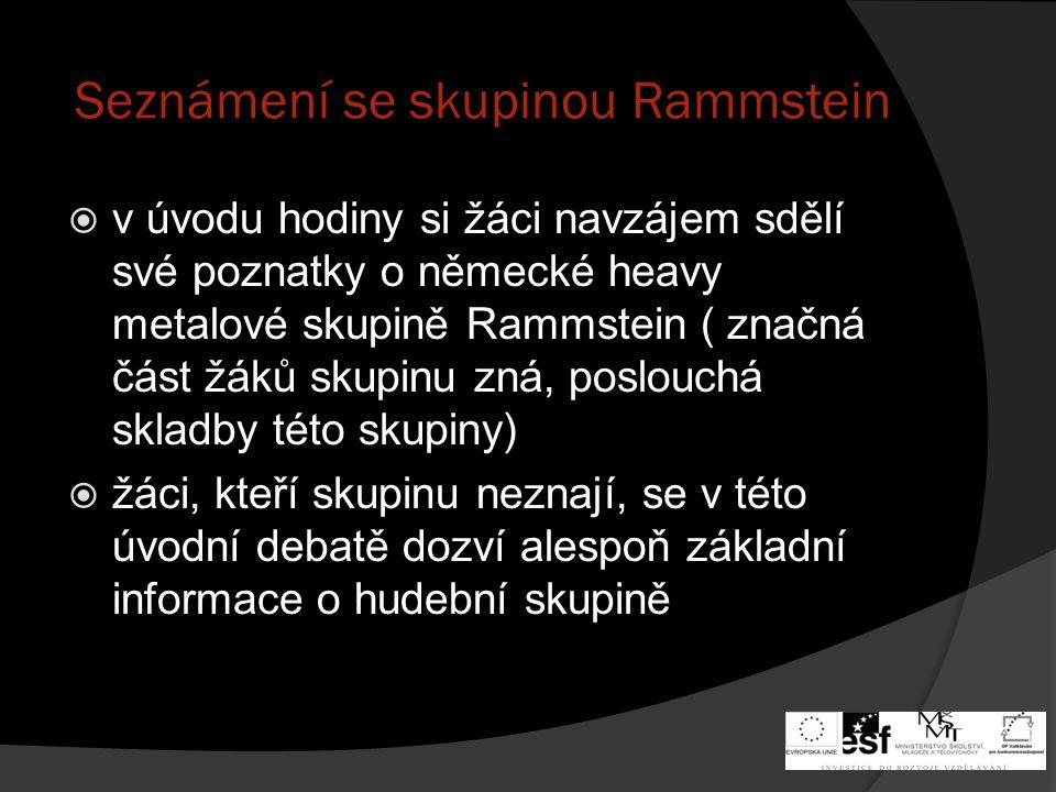 Seznámení se skupinou Rammstein