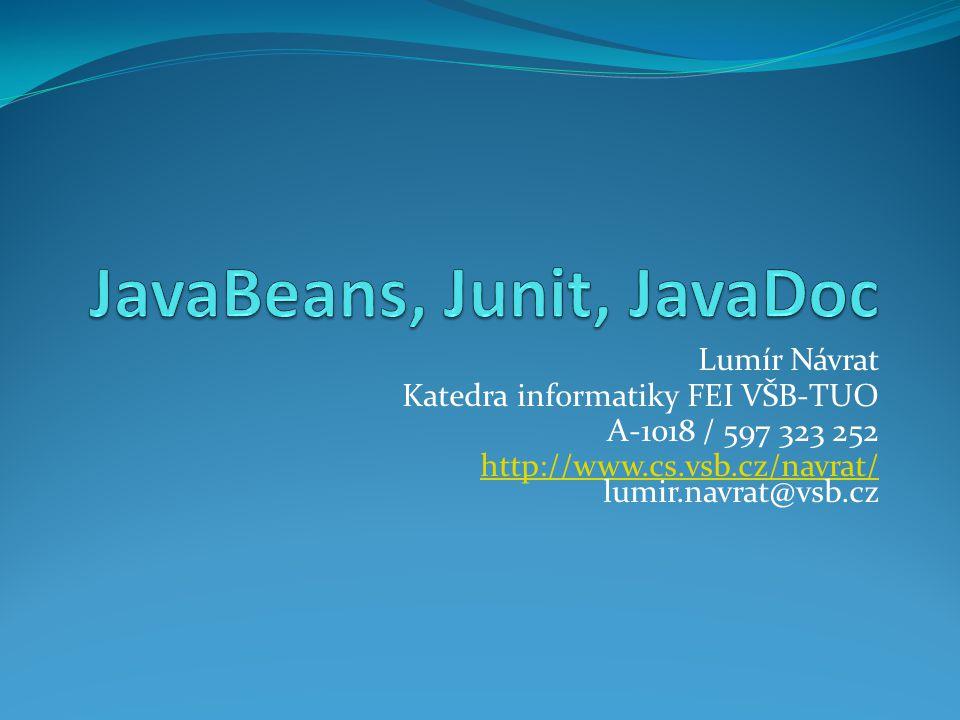 JavaBeans, Junit, JavaDoc