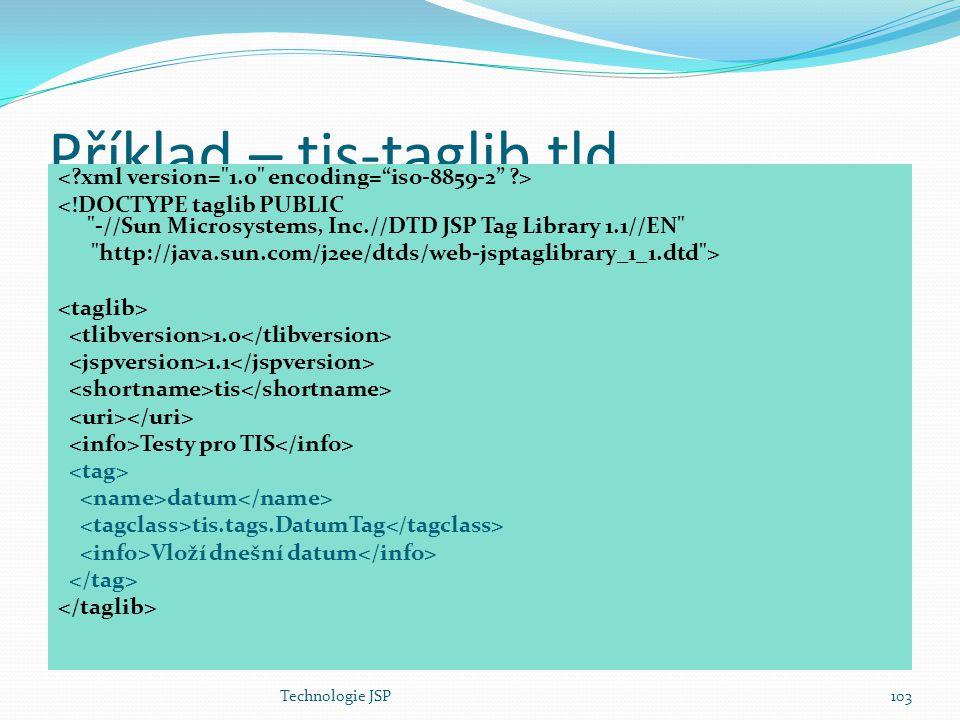 Příklad – tis-taglib.tld