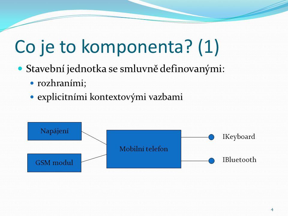 Co je to komponenta (1) Stavební jednotka se smluvně definovanými: