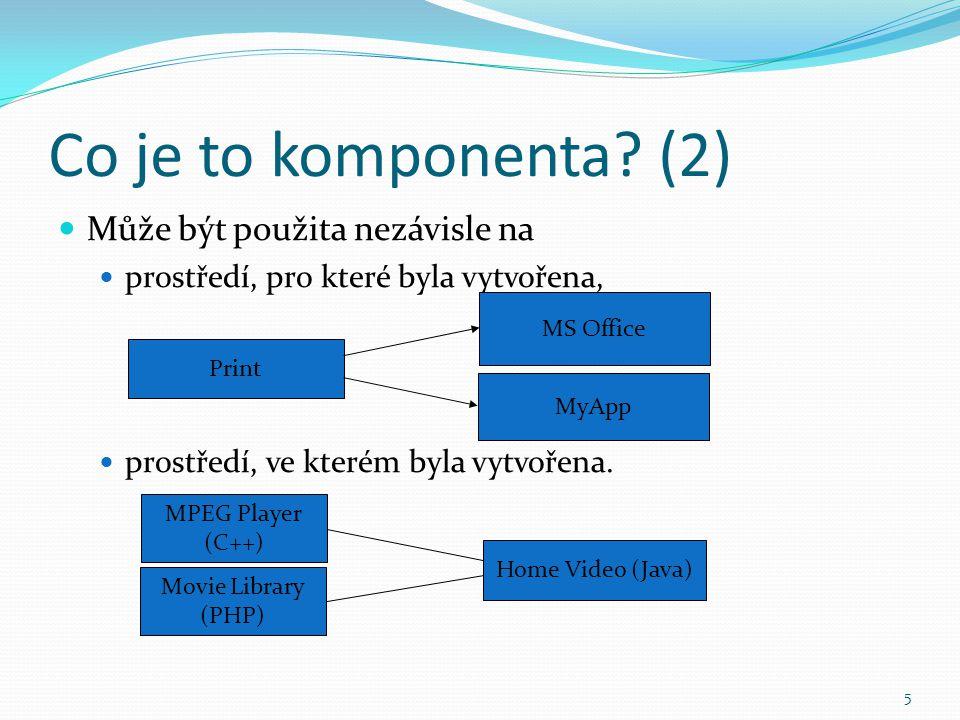 Co je to komponenta (2) Může být použita nezávisle na