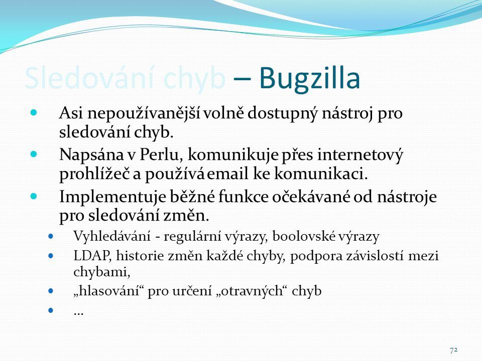 Sledování chyb – Bugzilla