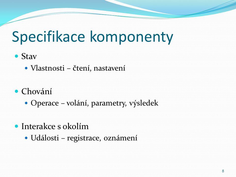 Specifikace komponenty
