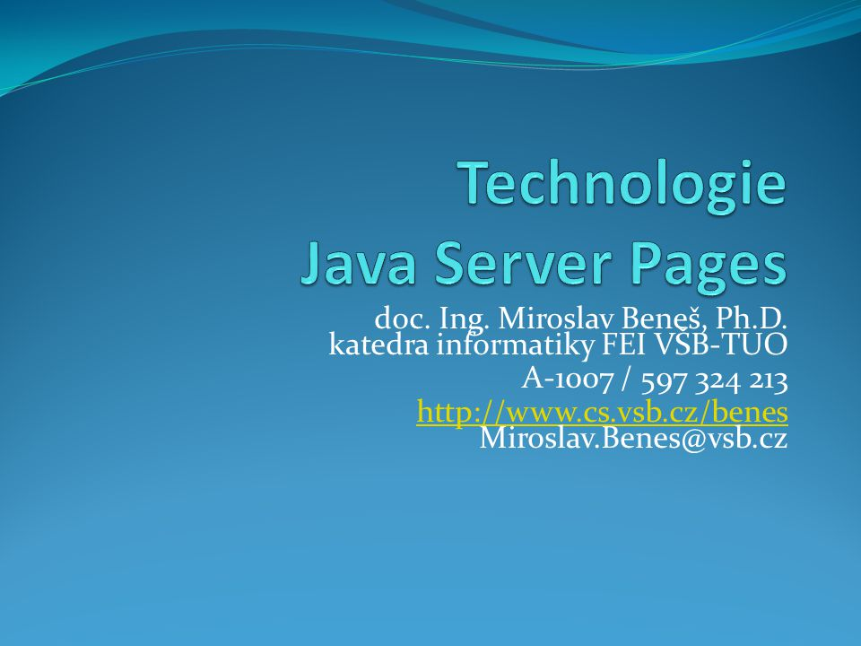 Technologie Java Server Pages