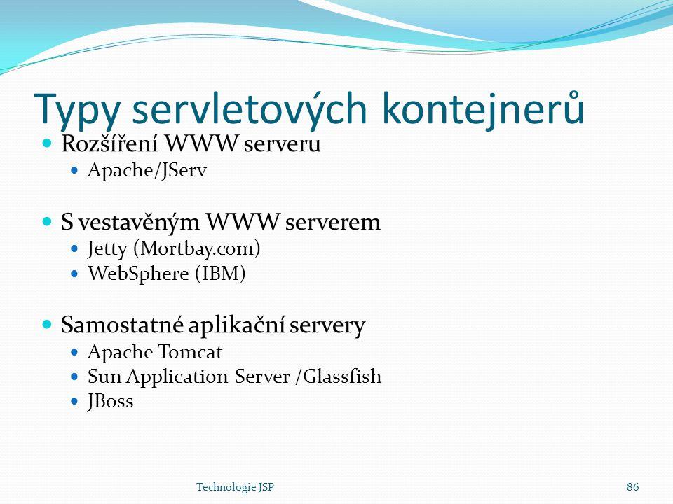 Typy servletových kontejnerů