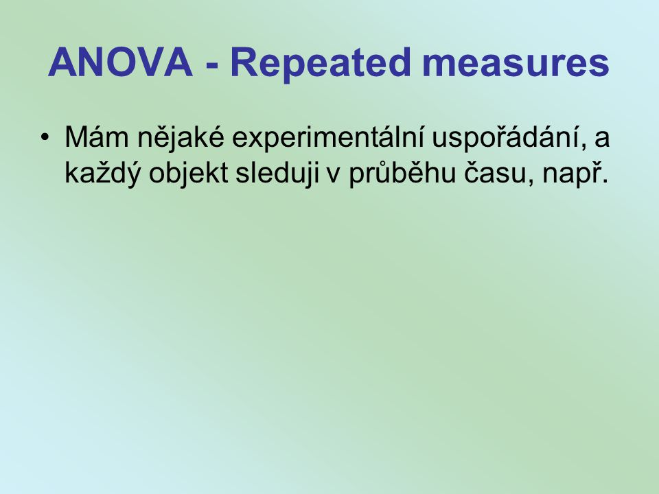 ANOVA - Repeated measures